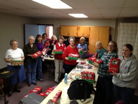The Women on Mission Prepared the Boxes For Shipping