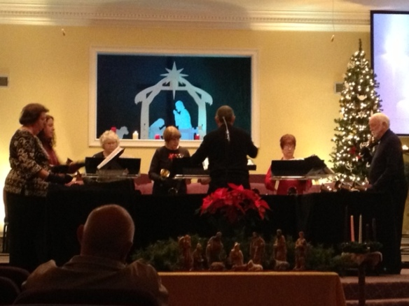 The Hand Bell Choir Played a Beautiful Concert